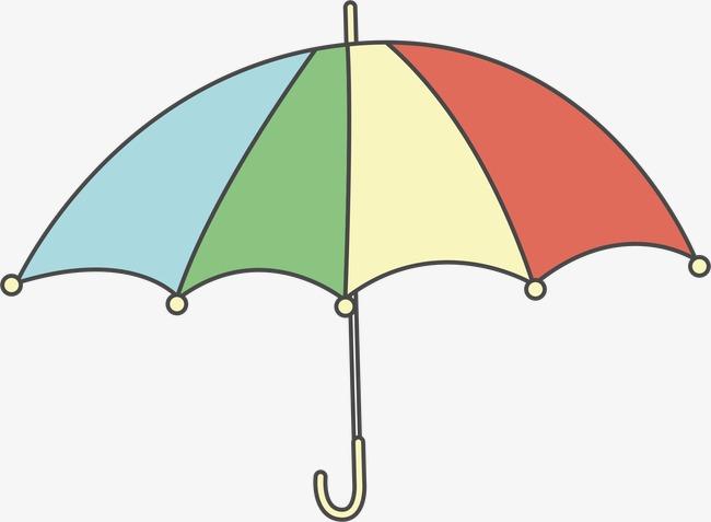 彩色手绘雨伞