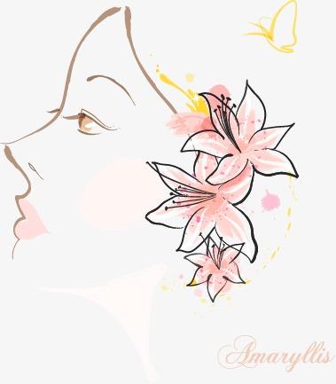 抽象人脸花朵图案