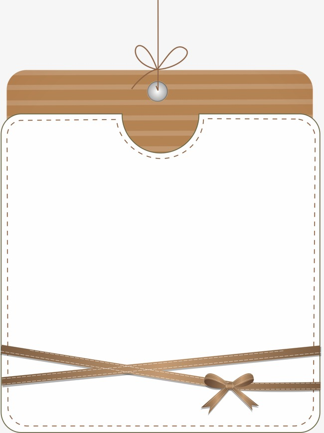 咖啡色蝴蝶结边框