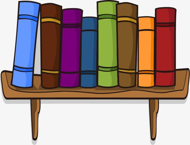 卡通书架书籍图片