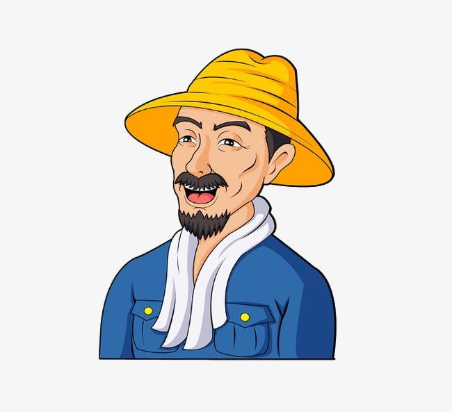 卡通农民人物图片