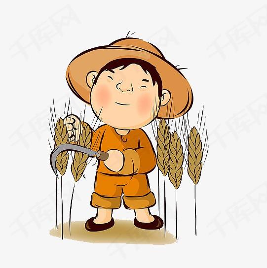 农民割小麦素材图片免费下载 高清装饰图案png 千库网 图片编号2207819