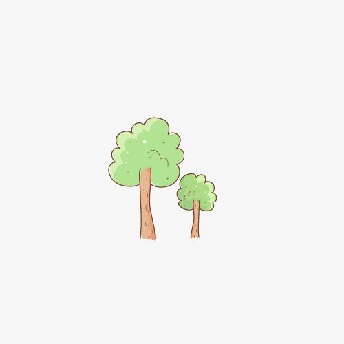 手绘小树素材
