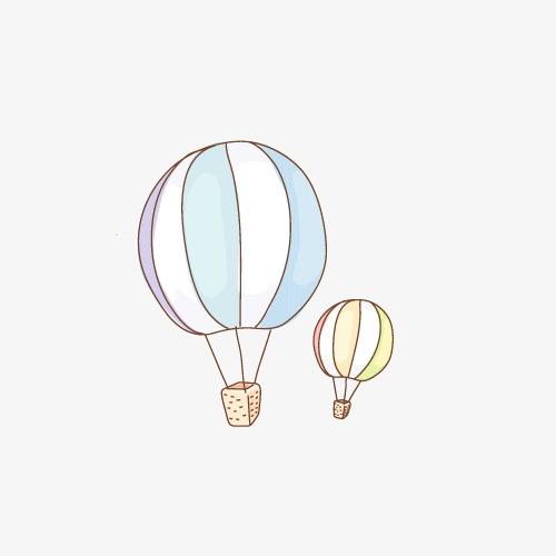 手绘线条热气球图片