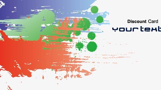 个性涂鸦名片图片下载个性涂鸦名片艺术横幅矢量素材滴痕个性涂鸦泼墨
