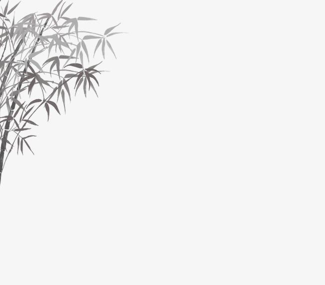 手绘有关竹林的图片