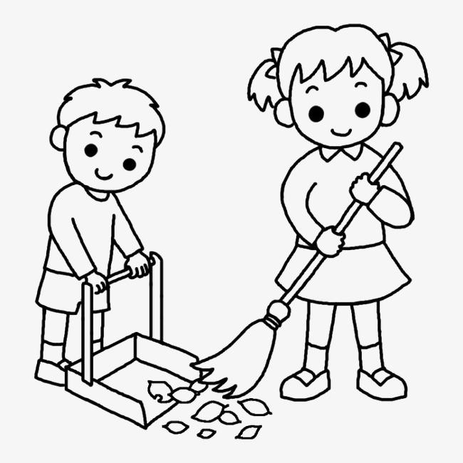扫地的小朋友