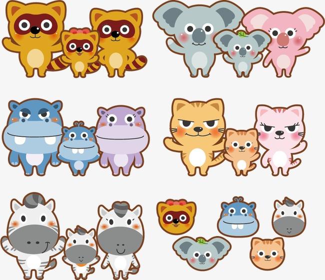 可爱手绘卡通动物