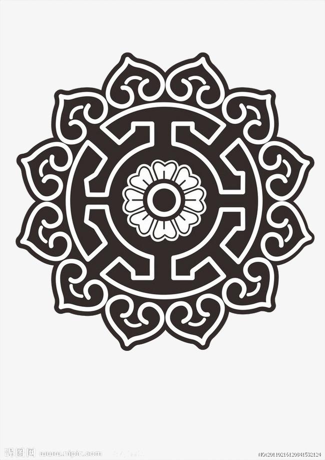 蒙古经典花纹素材图片免费下载 高清装饰图案psd 千库网 图片编号2246518