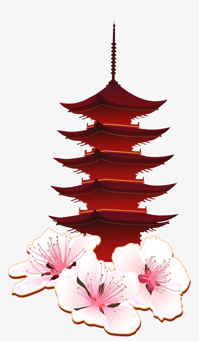 日本古代建筑矢量素材