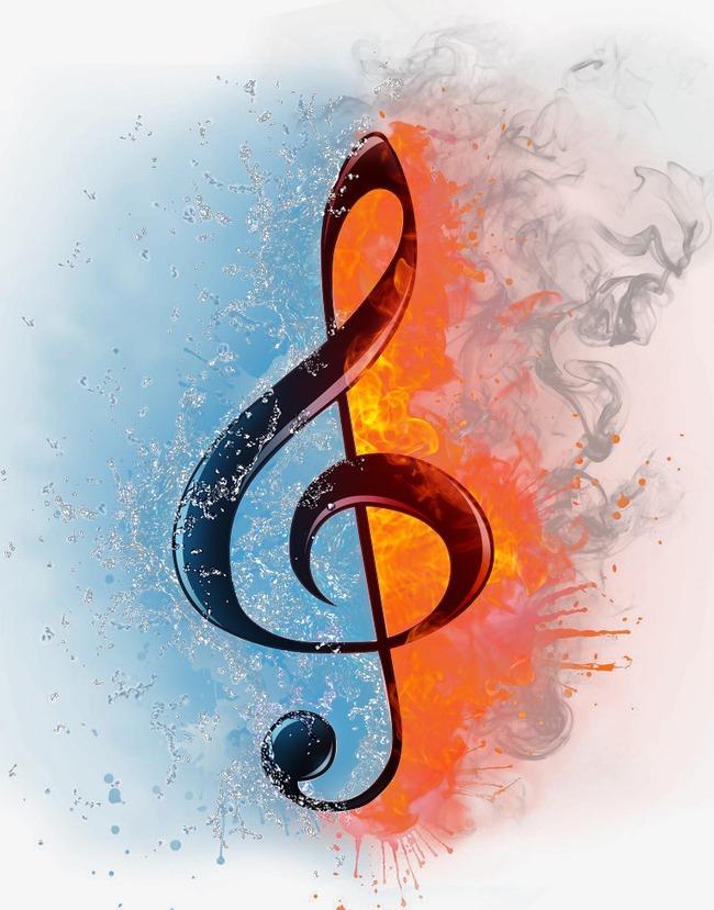 音符低音谱号素材图片免费下载 高清效果元素psd 千库网 图片编号