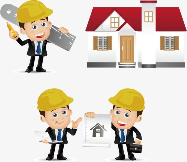 建筑工程师卡通图图片