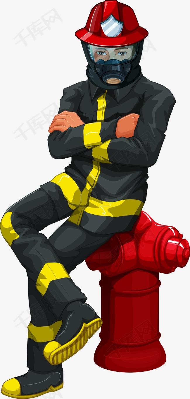 消防员   消防员   灭火器   消防工具   消防器材   器材   消防员