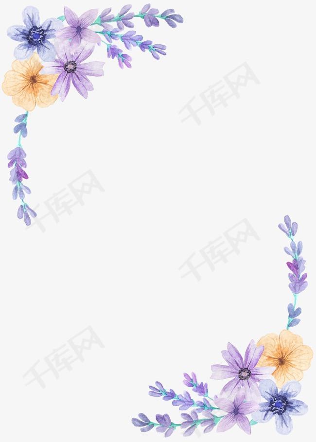 唯美薰衣草素材图片免费下载 高清边框纹理png 千库网 图片编号2263057