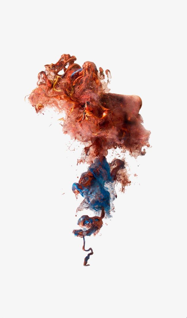 彩色烟雾效果素材