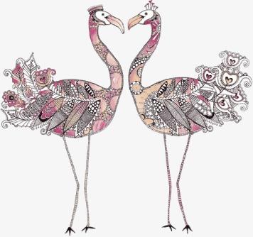 驼鸟印花矢量图素材图片免费下载 高清装饰图案psd 千库网 图片编号2281160