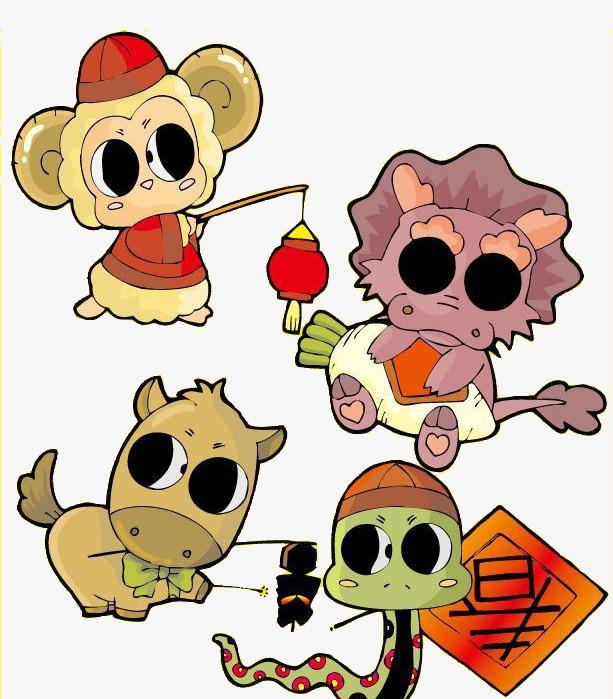 卡通小动物
