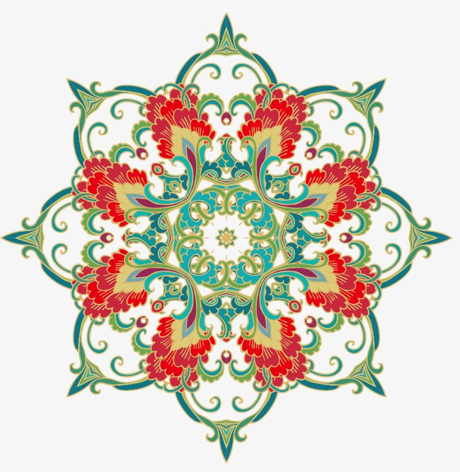 90设计提供高清png边框纹理素材免费下载,本次绿色民族风花纹作品为图片