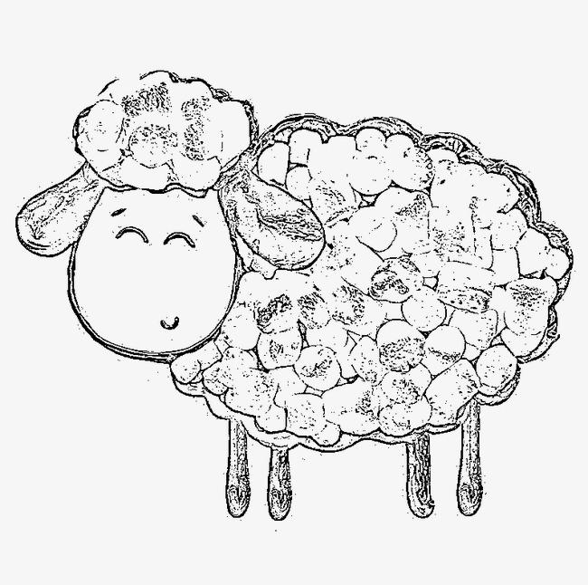 小羊肖恩 卡通 儿童 手绘线条小羊肖恩 卡通 儿童 手绘线条png免费