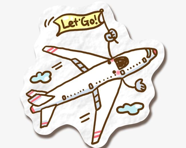 卡通飞机素材图片免费下载_高清装饰图案psd_千库网