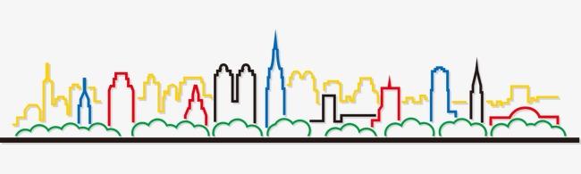城市剪影素材图片免费下载_高清装饰图案png_千库网