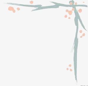手绘边框粉红花瓣手抄报花边的简单装饰边框-手绘边框素材图片免费图片