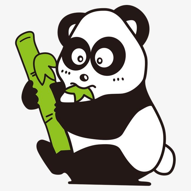 熊猫创意手绘黑白画