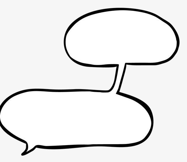 手绘漫画对话框png素材-90设计