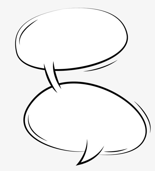 手绘漫画对话框