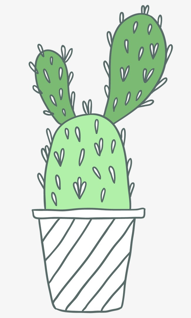 卡通手绘仙人掌