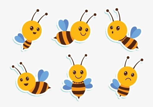 可爱小蜜蜂素材图片免费下载 高清装饰图案png 千库网 图片编号2323481