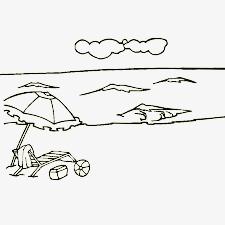 海滩简笔画素材图片免费下载 高清漂浮素材png 千库网 图片编号2328538