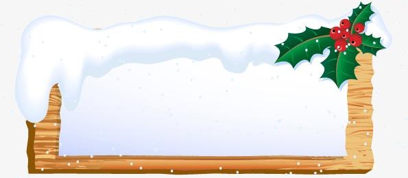 圣诞边框装饰矢量图