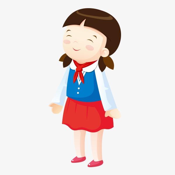 小学生 女孩 红领巾             此素材是90设计网官方设计出品,均