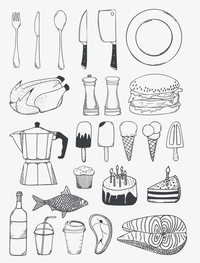 餐盘设计手绘图