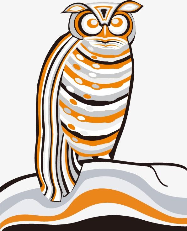 手绘条纹动物矢量素材