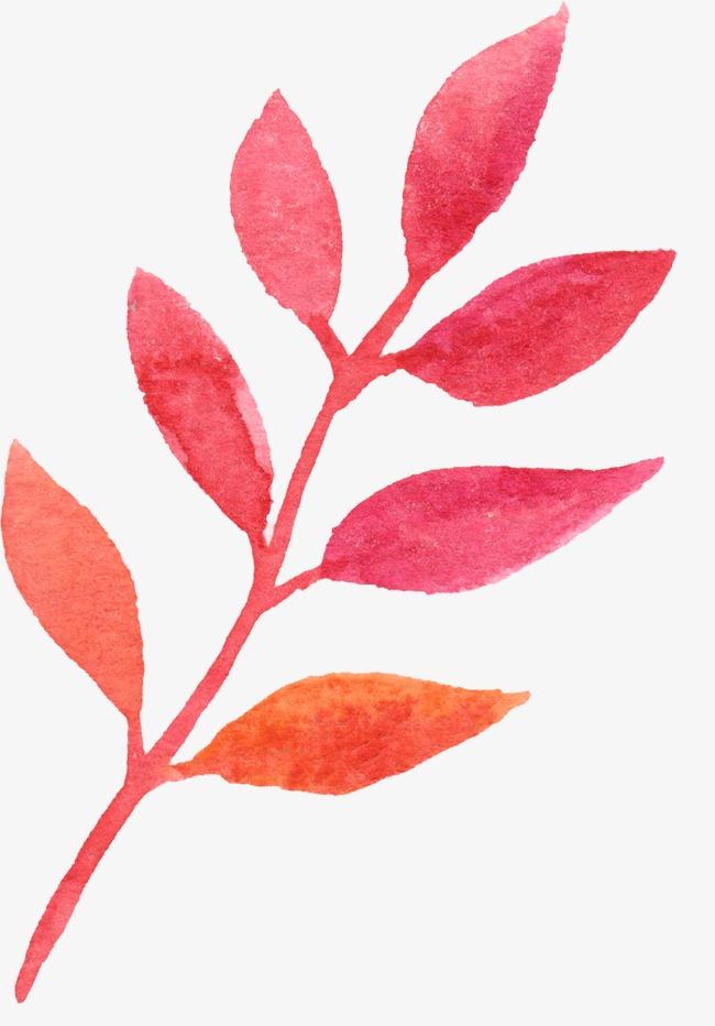 小清新 唯美 手绘 水彩画 叶子             此素材是90设计网官方设