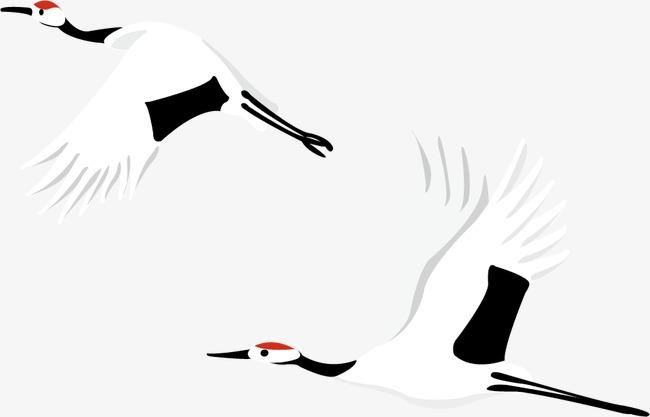 卡通仙鹤素材图片