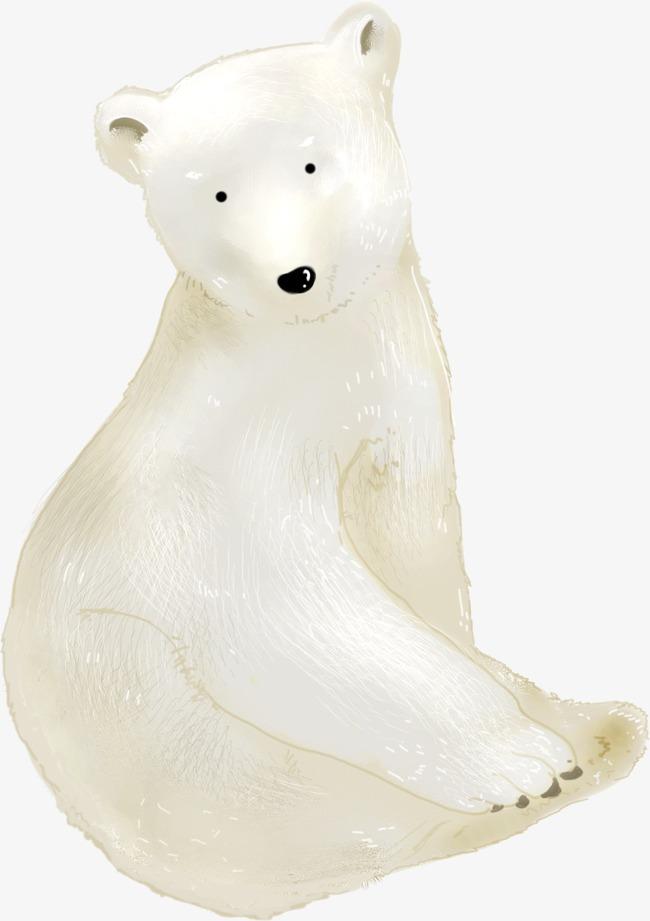 可爱北极熊png素材-90设计