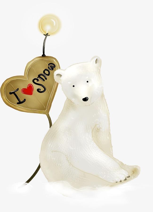 卡通手绘北极熊