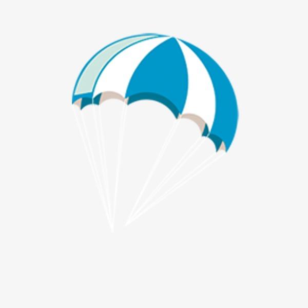 降落伞 蓝色 伞             此素材是90设计网官方设计出品,均做