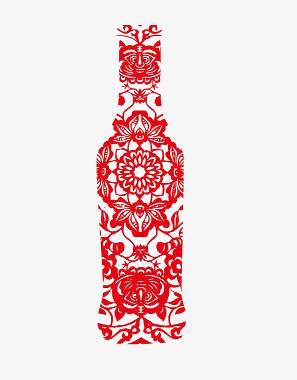 剪纸瓶子步骤图片漂亮