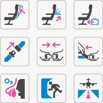 矢量航空安全图标免费下载