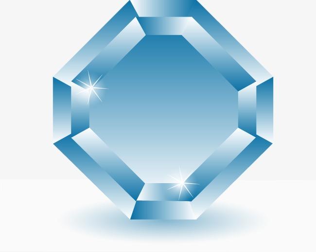 炫彩钻石金刚石单质晶体矢量素材png素材-90设计