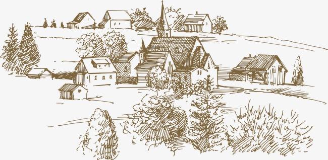 欧式线稿手绘图