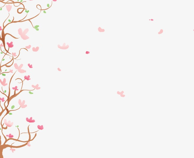 手绘卡通花树素材图片免费下载_高清装饰图案png_千库网(图片编号
