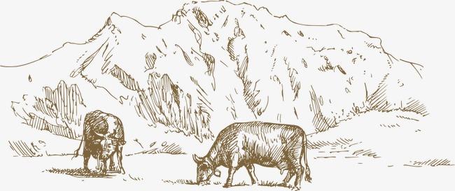 手绘线稿庄园农牧素材图片免费下载 高清装饰图案png 千库网 图片编号2404464