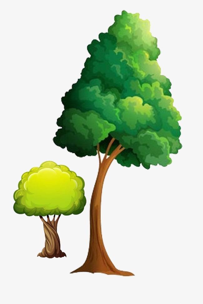 唯美手绘树木