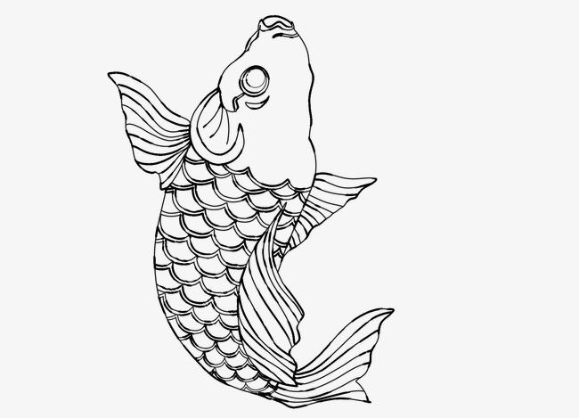 卡通手绘鲤鱼