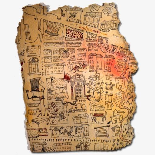 羊皮纸手绘图案